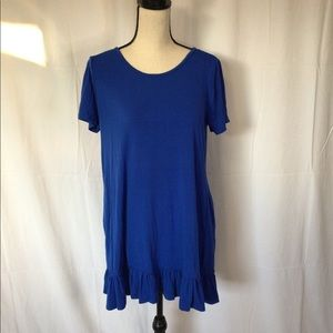 Blue tshirt dress with pockets
